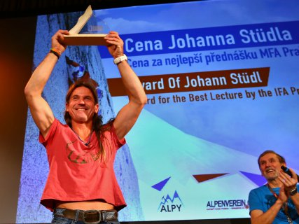 The Johann Stüdel Award for the Best Lecture of the Day, at the 14th International Festival of Alpinism in Prague