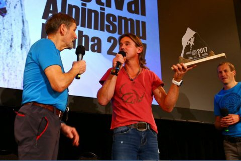 "Second place in the contest ""Mountaineer of the year 2017"" at the 14th International Festival of Alpinism in Prague"
